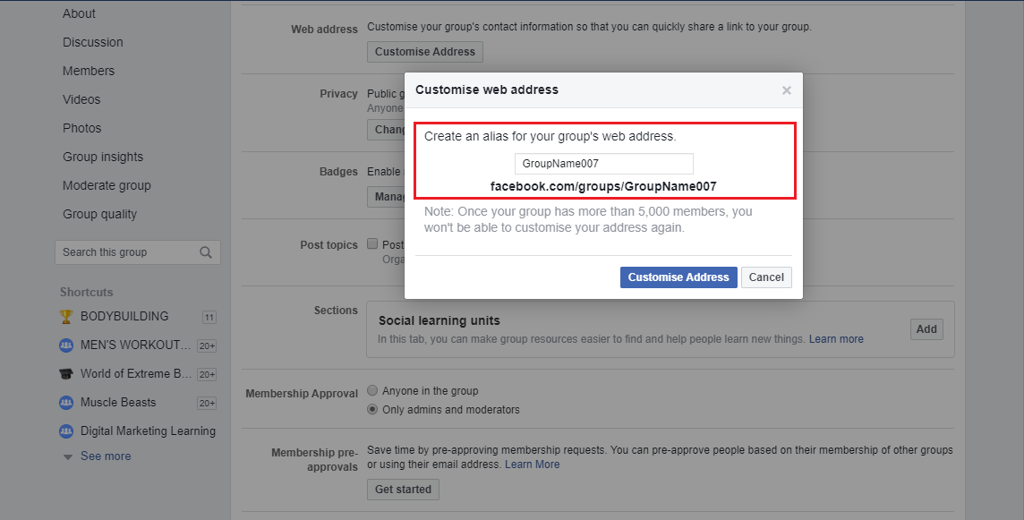 How to Create Custom URL for Facebook Group