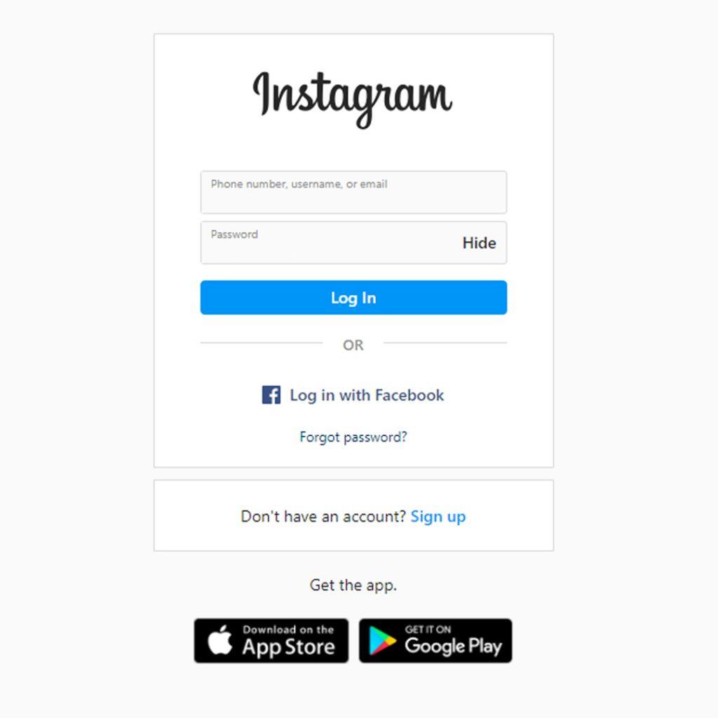 Instagram Login Page