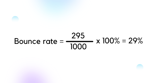 bounce rate formulae